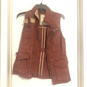 Abercrombie Red Utility Vest